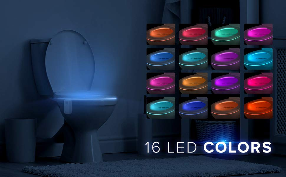 LumiLux Advanced 16-Color Motion Sensor LED Toilet Bowl Light 2